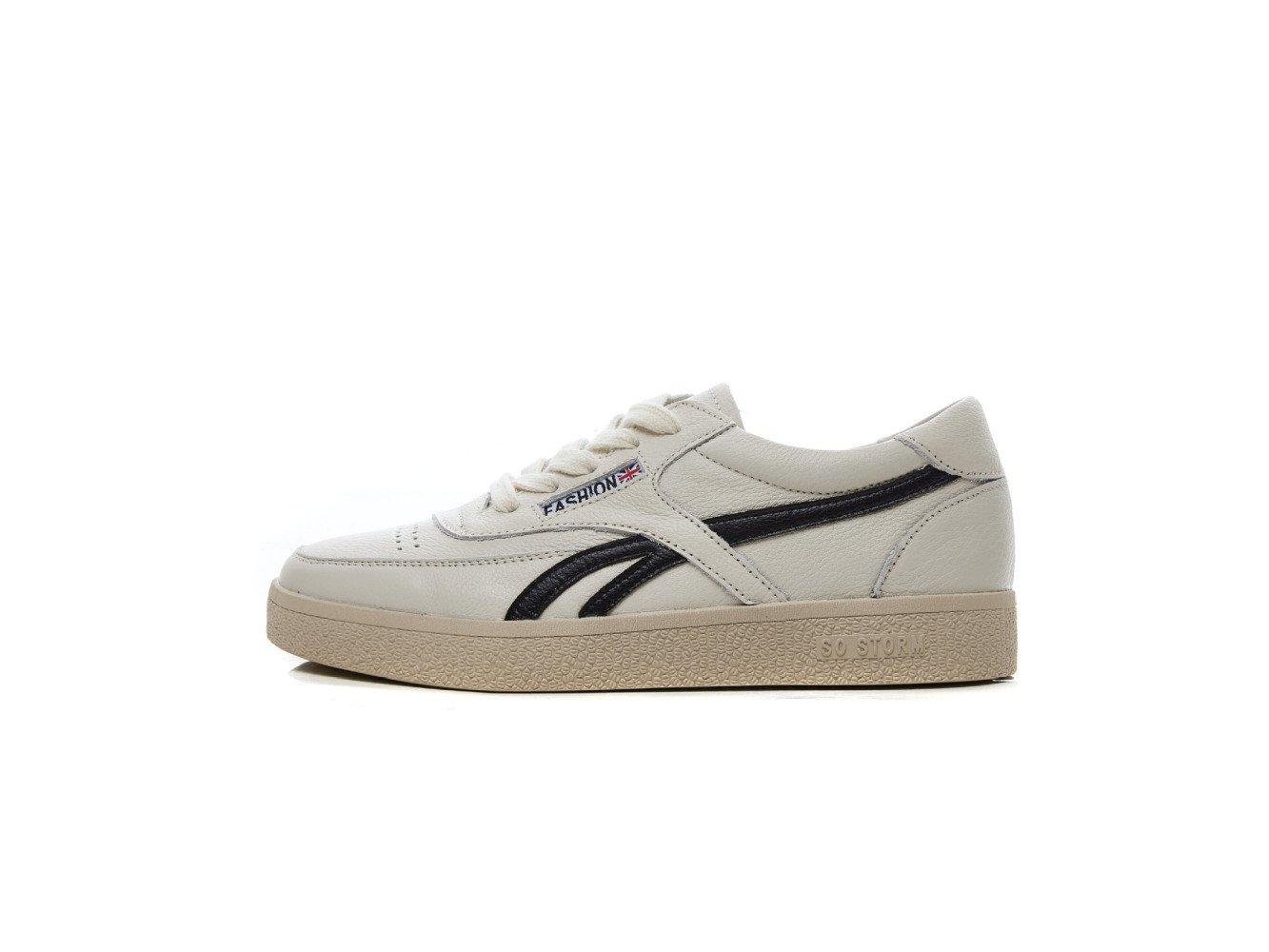 SBL SBL SBL Kleine weiße Schuhe Arbeiten Frauen Schuhe beiläufige Leder Plattform Sport Schuhe Vorne Schnürschuhe Damenschuhe,Schwarz,37 04fbe2