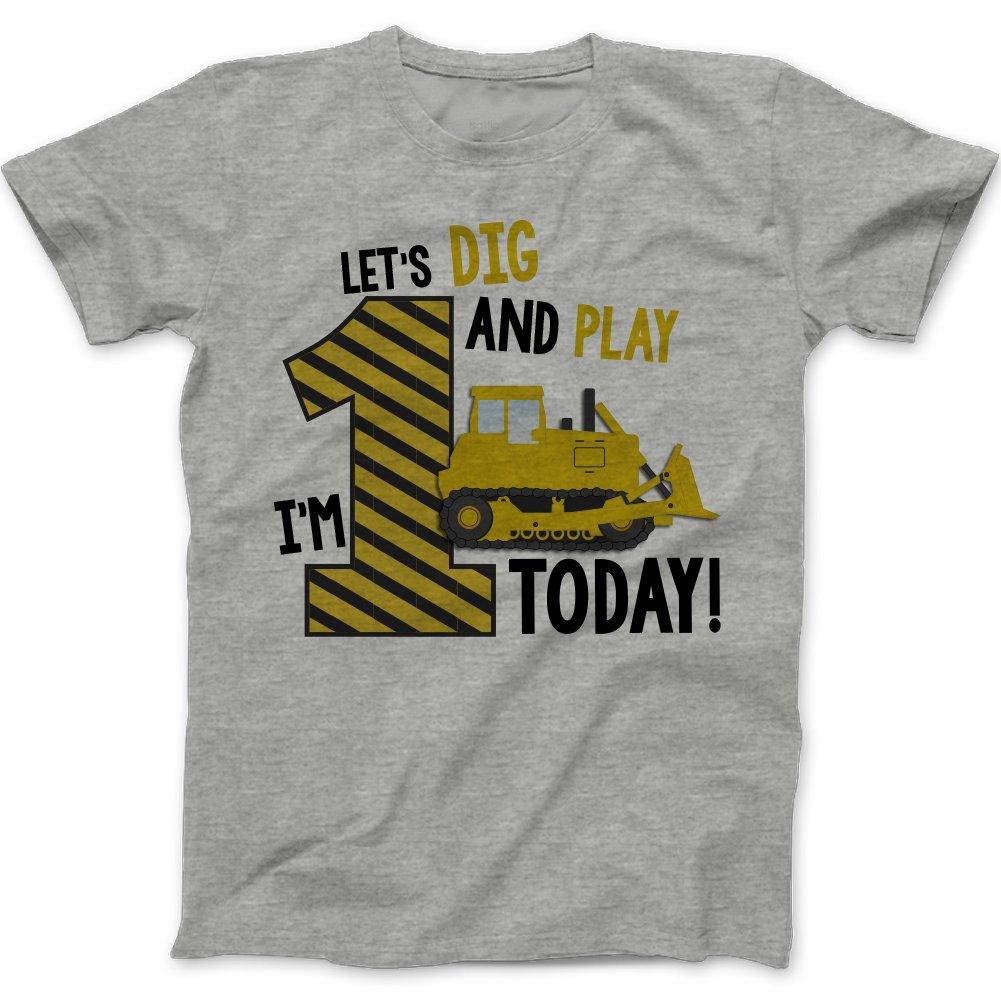 Best Amazon.com: First Birthday Shirt - Construction Theme Boy's First  OT62
