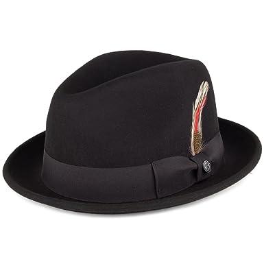 Jaxon Blues Trilby Crushable Fedora Hat at Amazon Men s Clothing ... 0d5417e3878