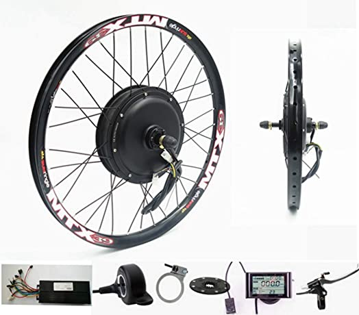 NBpower 72V 2000W Rear Wheel Motor, 2000W Electric Bike Kit,Electric Bicycle Conversion Kit with Mutifunction SW900 Display,72V 40A'sine Wave Controller, with 7 Speed flywheel