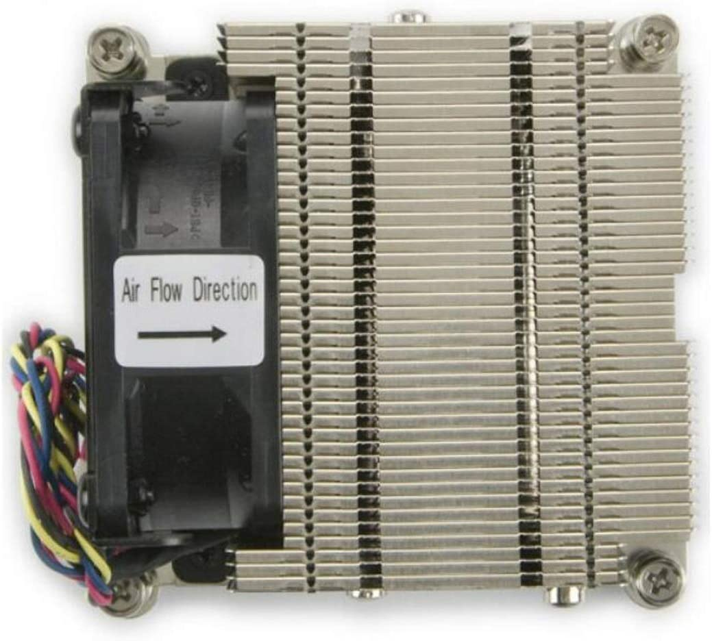 with Two Sets of Clips Computer CPU Fan. Color : Gray Gaoxingbianlidian CPU Cooler