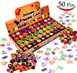 Toys : 50 Pieces Halloween Assorted Stamps Kids Self-Ink Stamps (25 DIFFERENT Designs, Plastic Stamps, Trick Or Treat Stamps, Spooky Stamps) for Halloween Party Favors, School Prizes, Halloween Goodies