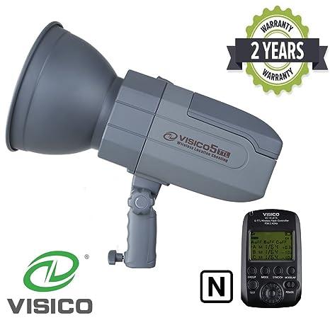 VISICO 5 Nikon 400Ws Studio Flash estroboscópico con gatillo | Transmisión inalámbrica de 2.4G multicanal