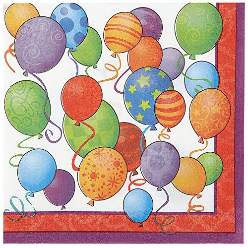 Balloons Birthday Beverage Napkins, (Cute Mime Costumes Ideas)