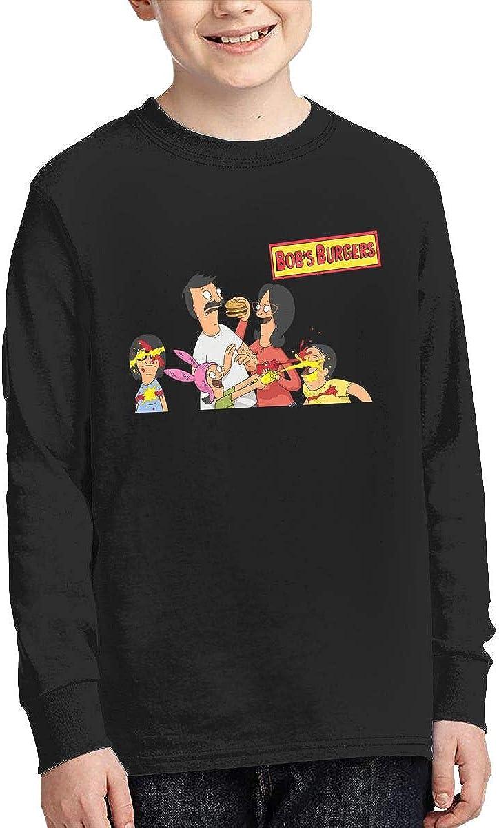 Bobs Burger Cotton Crew Neck Long Sleeve T-Shirt for Boys Girls
