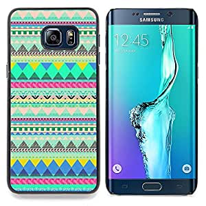 "For Samsung Galaxy S6 Edge Plus / S6 Edge+ G928 Case , Native American Indian Pattern Verde"" - Diseño Patrón Teléfono Caso Cubierta Case Bumper Duro Protección Case Cover Funda"