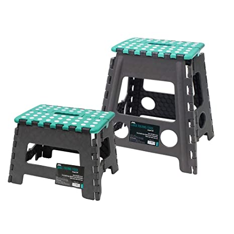 Fabulous Jvl Small And Large Folding Step Stool Grey Large Small Ncnpc Chair Design For Home Ncnpcorg