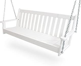 "product image for POLYWOOD GNS60WH Vineyard 60"" Swing, White"