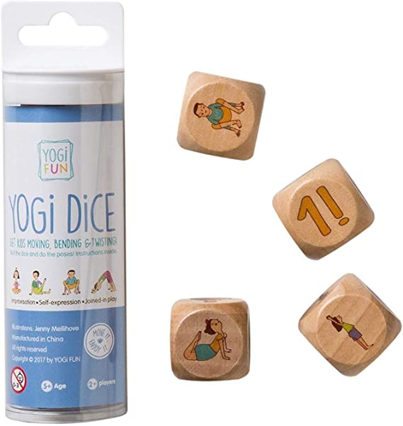 YOGi FUN Bundle Yoga Dice Game & Yoga Book with Yoga Poems and Coloring Pages