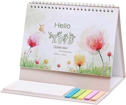 Hola 2018 Calendario de escritorio Calendario de mesa Octubre de 2017 a diciembre de 2018: Amazon.es: Oficina y papelería
