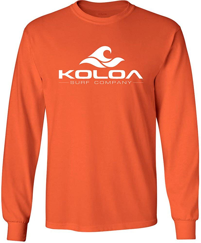 Koloa Surf. Wave Logo Long Sleeve Heavy Cotton T-Shirts in Regular, Big and Tall