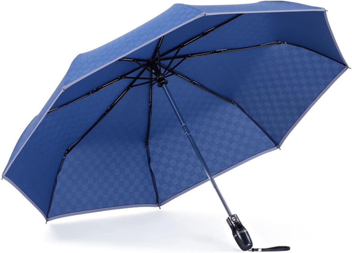 Blue-3 Aigumi Parapluie coupe-vent pliable Design innovant invers/é Double couche et protection solaire