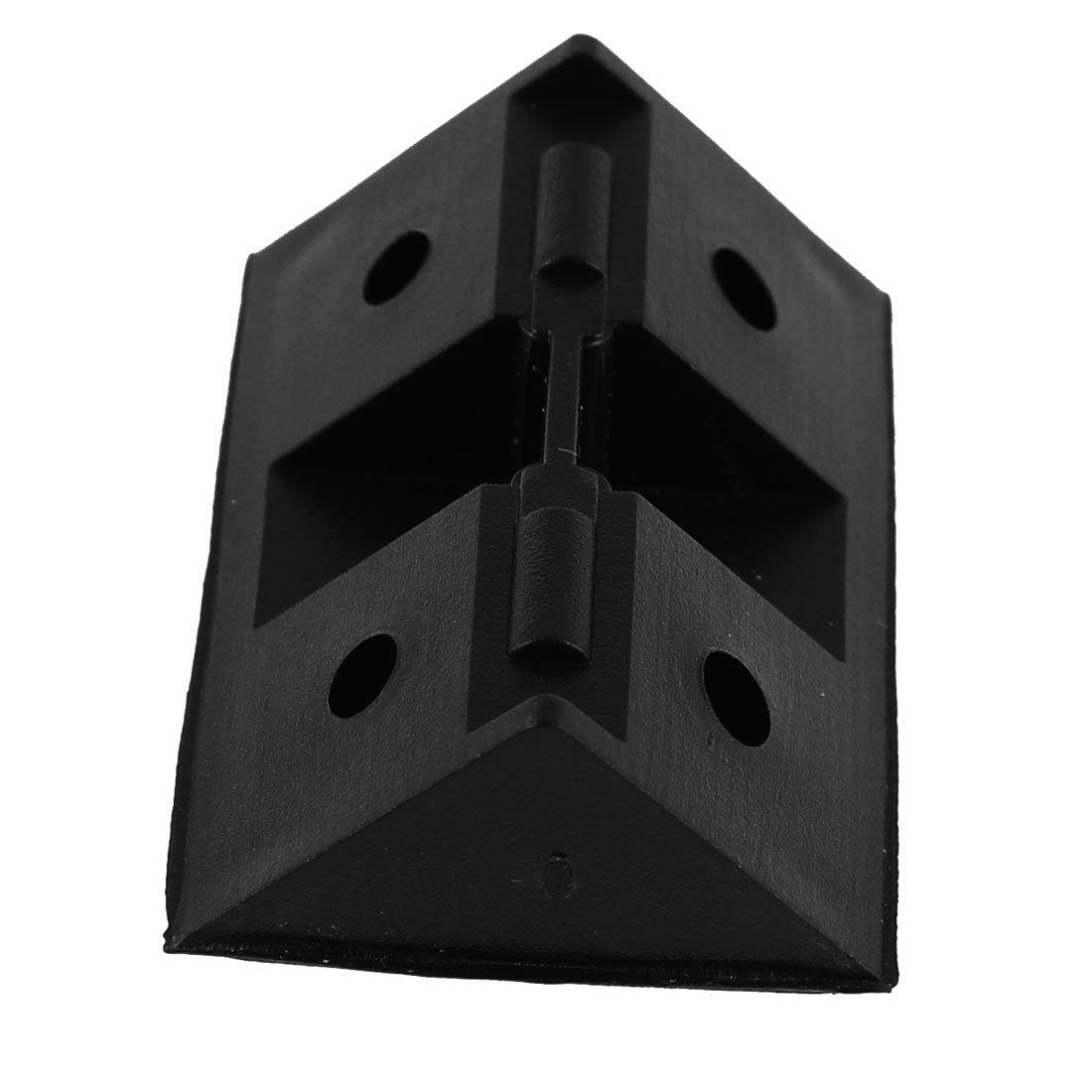 sourcingmap Estante del gabinete de pl/ástico de 90 grados esquina escuadras 30pcs soportes negros