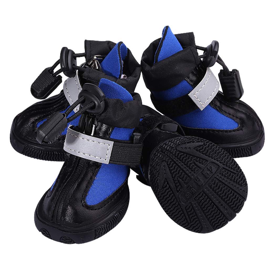 5 SENERY Pet Dog shoes Boots,Winter Waterproof Nonslip Rain Snow Booties Outdoor Paw Predector