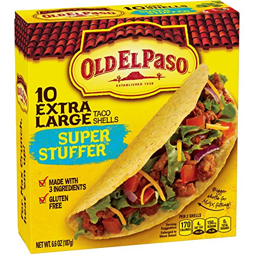 Old El Paso Super Stuffer Shells 10 ct 6.6 oz Box - Corn Taco Shells