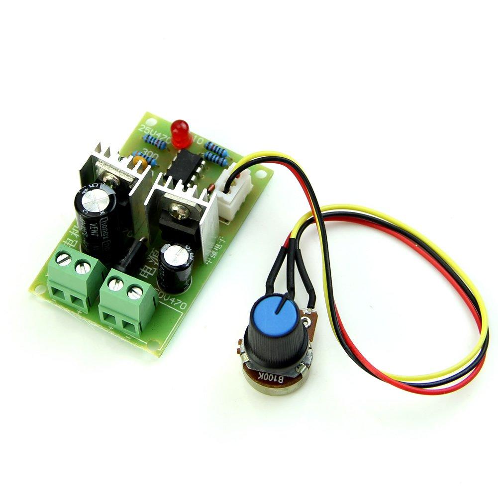 HeroNeo 12 V//24 V//36 V ox/ímetro de ancho PWM DC 3 A controlador de interruptor regulador de velocidad del Motor