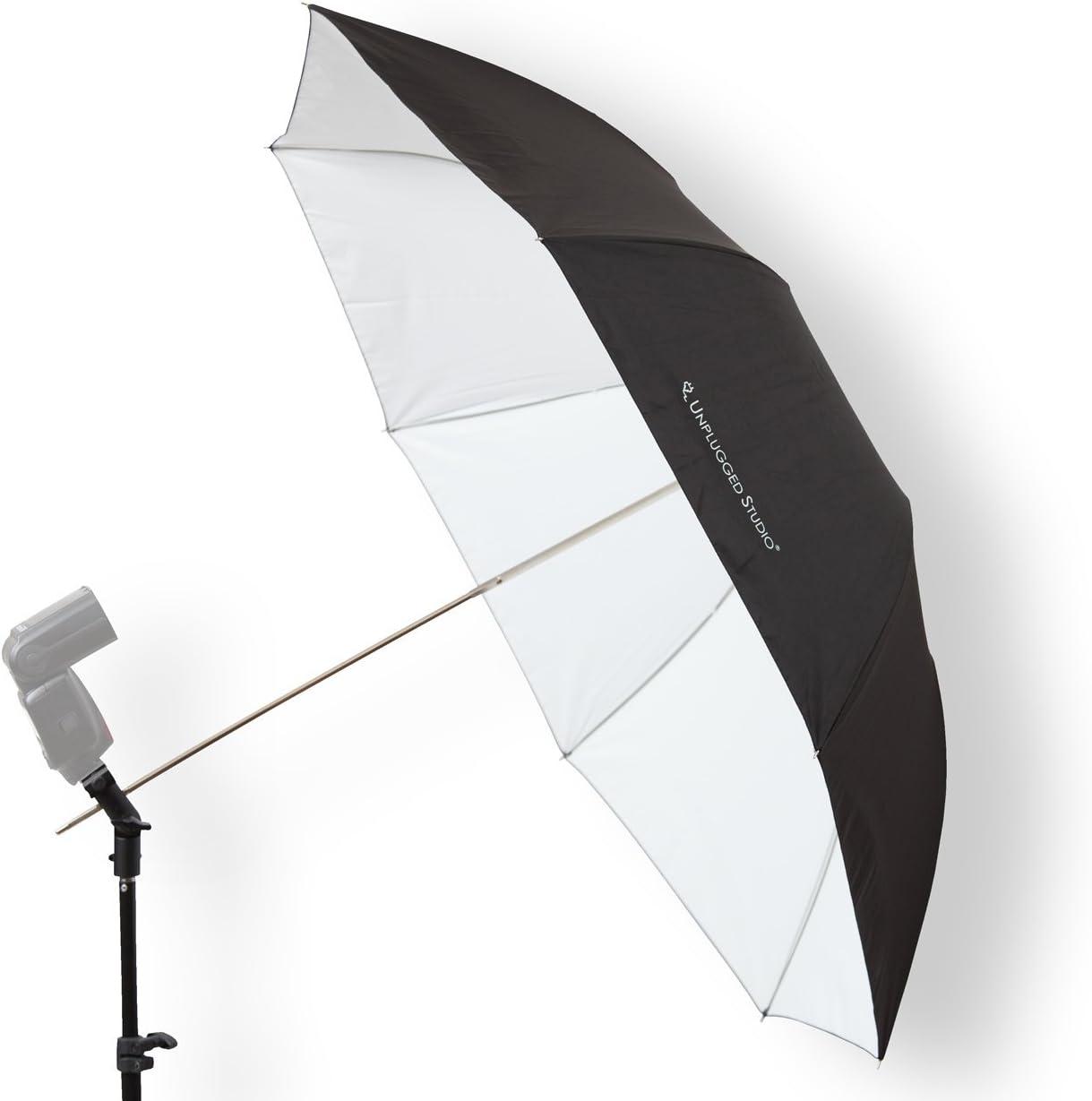 UNPLUGGED STUDIO 36 Collapsible White Umbrella UN-039