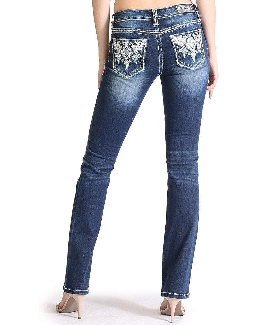 Grace Aztec Embellished Bootcut Jeans