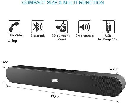 AUX con Cable e inal/ámbricos Bluetooth BT Altavoces para computadora con Control Remoto RCA Barra de Sonido para PC Barra de Sonido est/éreo de Cine en casa USB