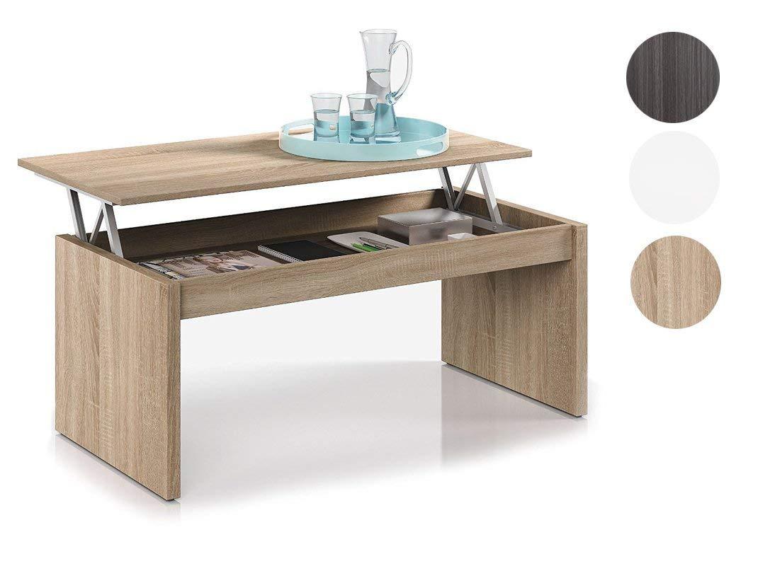 habitde Sign 001638F Tavolino basso con piastra regolabile in altezza naturale legno colore Fores