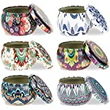 ForUBeauty 6 Pcs Candle Tin Jars DIY Candle Making kit Holder Storage case for Dry Storage Spices, Camping, Party Favors…
