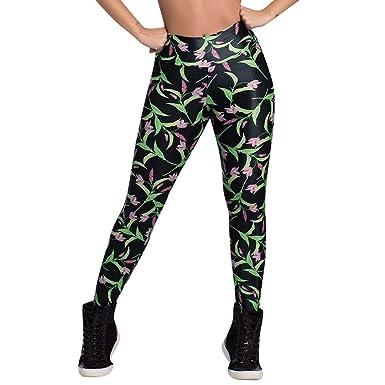 Cintura Alta de Yoga Pantalones, YpingLonk Flor Impresión ...