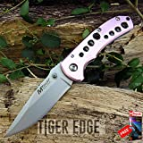 FOLDING POCKET KNIFE Mtech Pink 3.5'' Small Women's Tactical Everyday Carry EDC razor sharp + FREE eBOOK by MOON KNIVES!