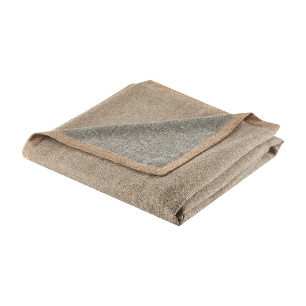Ben and Jonah Reversible Baby Alpaca Throw Blanket (Bungee Cord/Steel Grey)
