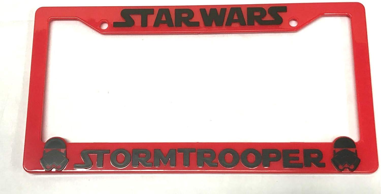 2 Red Xitek SF-SW-RB 3D Emblem Vader Star Wars Storm Troopers License Plate Holder Frame Cover for Tundra Tacoma 4 Runner Land FJ Cruiser
