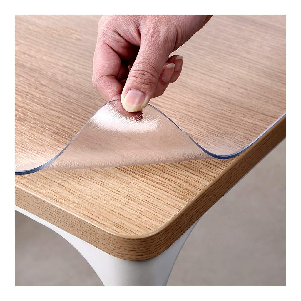 テーブルのマットをきれいにすること容易な防水ポリ塩化ビニールのテーブルクロスの透明なオイル防止の汚れ防止コーヒーテーブルのマット (Color : Clear, Size : 80×120cm) 80×120cm Clear B07SDCKVCC