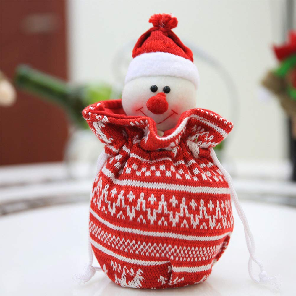 YaptheS Christmas Apple Bag Cute Snowman Doll Knitted Candy Cookie Bag Pendant Kids Xmas Gift Party Decoration Christmas Gift by YaptheS (Image #2)