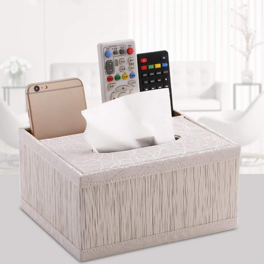 Diuspeed Bo/îte de tissu multi-fonction bo/îte dorganisateur de bureau de similicuir//support de couverture de tissu et TV /à t/él/écommande pour le m/énage