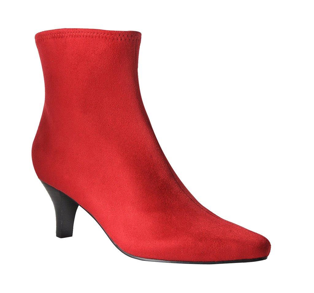 Impo Neil Dress Stretch Bootie B074XDPGKY 8.5 B(M) US|Scarlet Red Faux Suedy Stretch