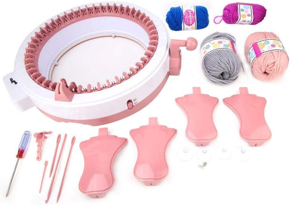 tessuti macchina per cucire a mano in plastica fai-da-te Macchina per maglieria a mano ecc calze per tessere sciarpe pi/ù veloce del metodo tradizionale cappelli