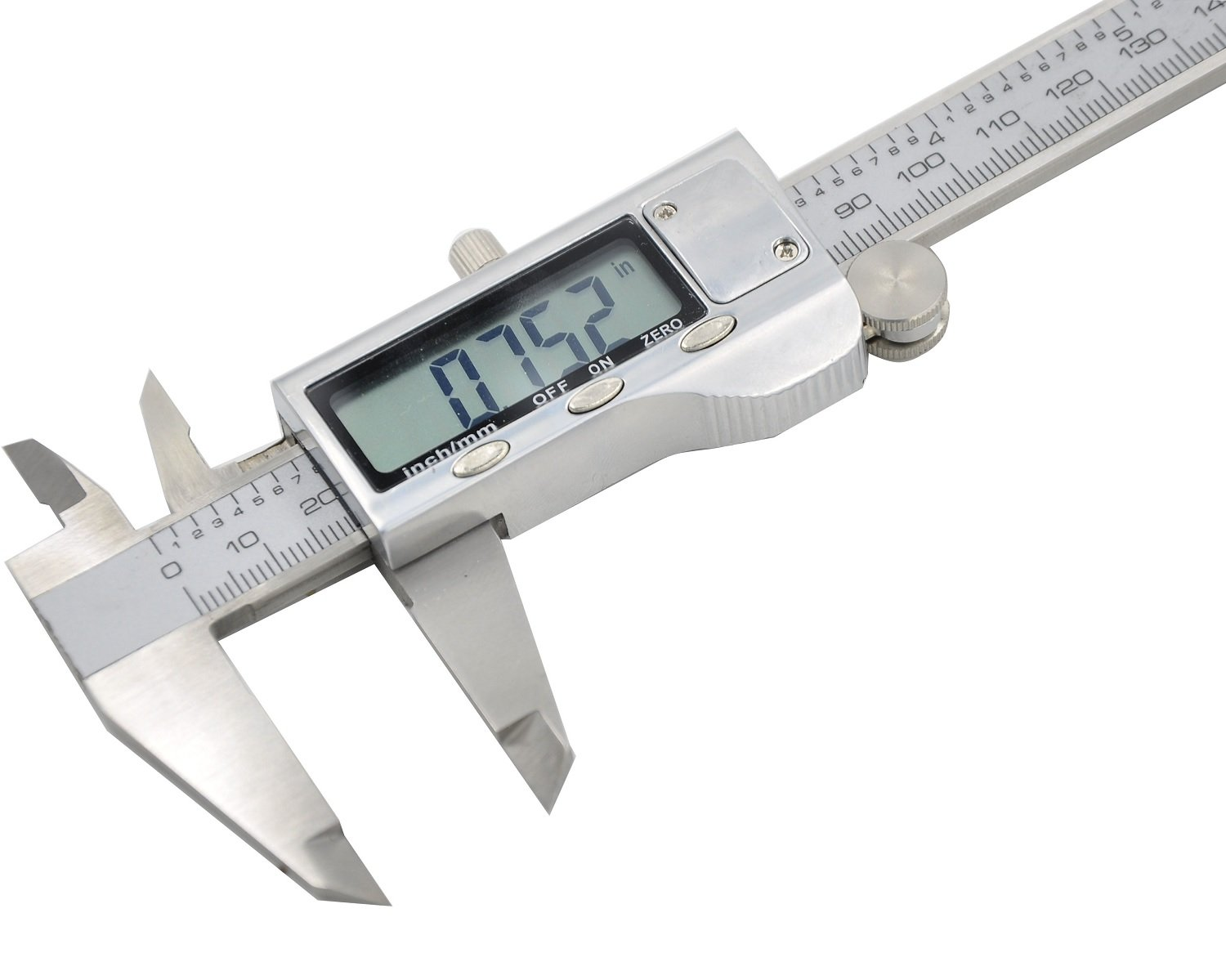 Electronic Digital Caliper - Bovini Caliper Measuring Tool in Inches & Millimeters Conversion 0-6 Inch/150 mm Stainless Steel Auto off Measuring Tool For Dimensions, Thickness, Depth, Diameter by Bovini (Image #3)