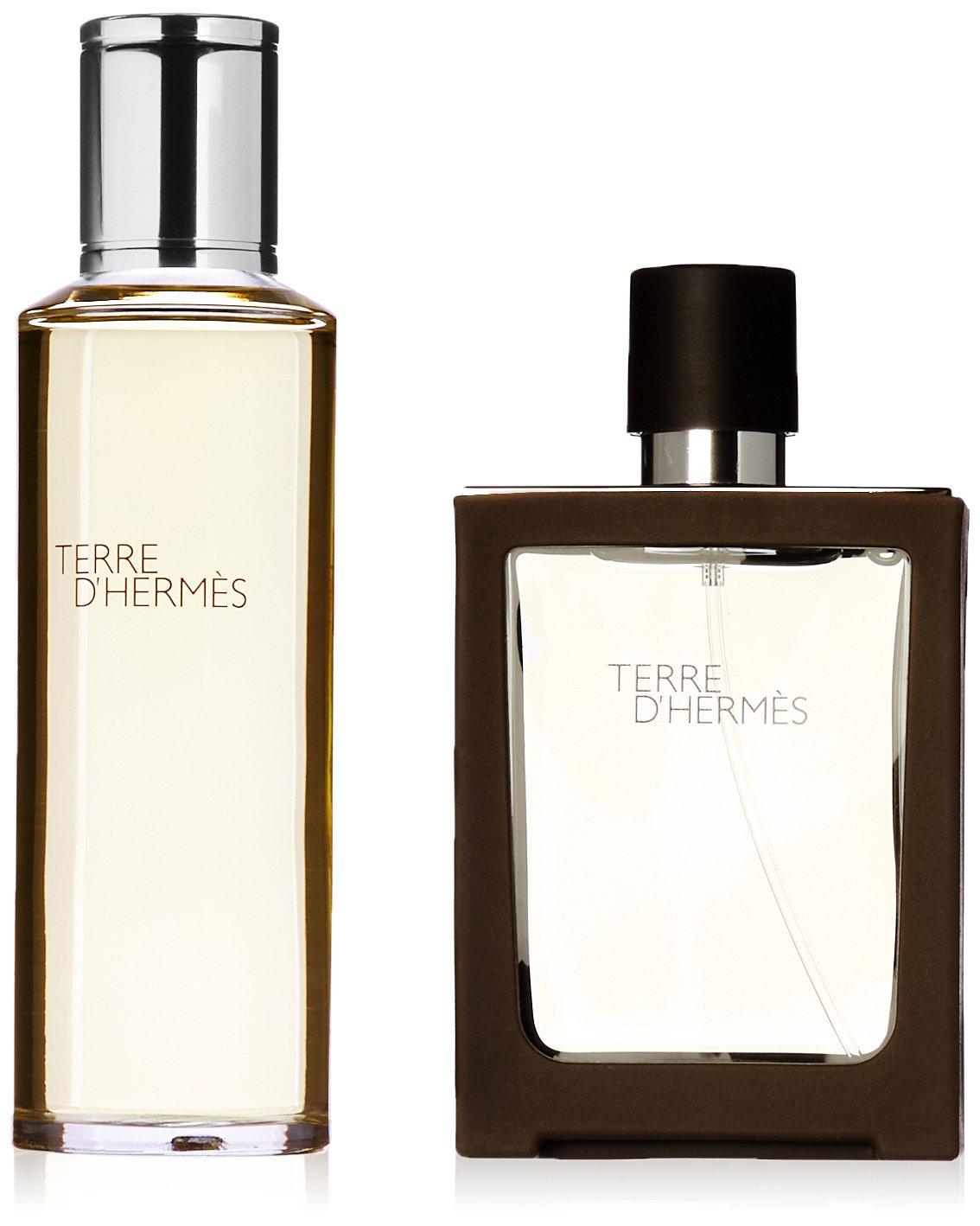 Hermes Terre D' for Men 2 Pc. Gift Set (Edt Refill 4.2-Ounce Plus Edt Spray Refillable 1.0-Ounce) HERME26023