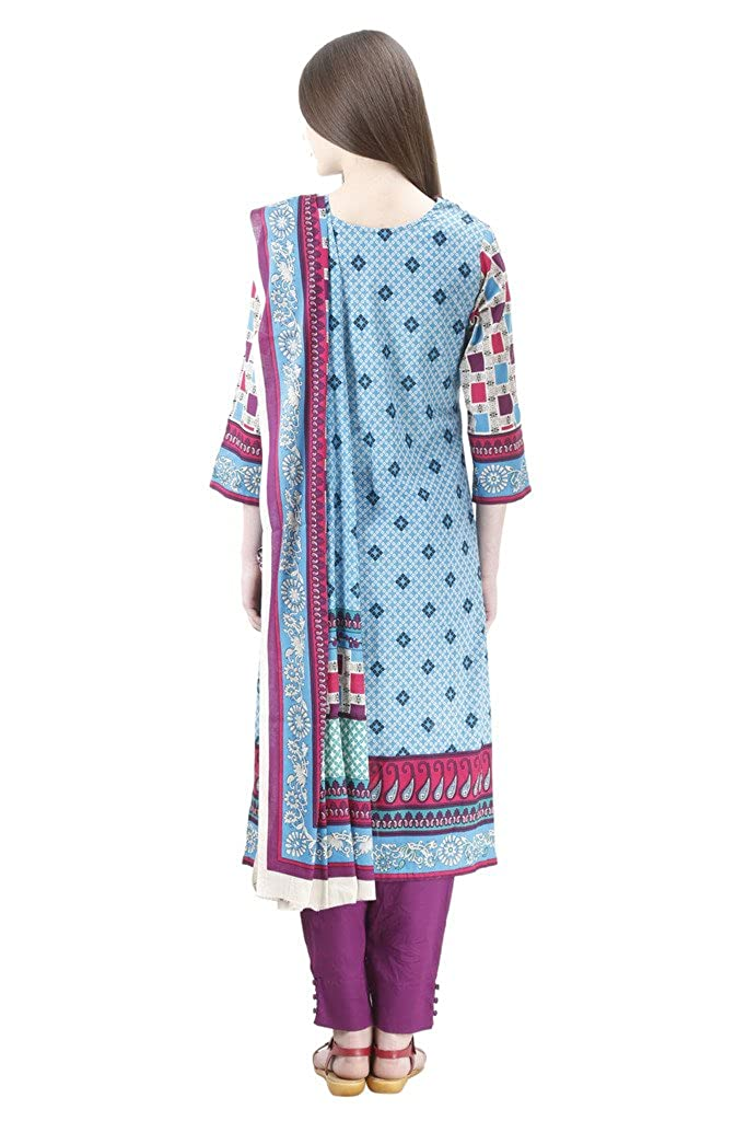 d4410c4a81 Uptown Women's 100% Stitched Pakistani Cotton Lawn Suit: Amazon.in:  Clothing & Accessories