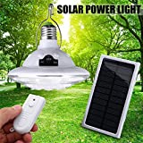 yunli 22LED E27 Outdoor/Indoor Solar LED Lamp,Hooking Camping Accessories Garden Night Lighting+Remote Control