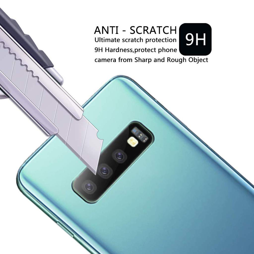 Lywey 2PCS No Hole Tempered Glass Protector Camera Film for Samsung Galaxy S10/S10+