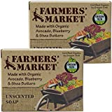 Farmers' Market Organic Bar Soap, Pack of 2, 5.5-Ounces Each