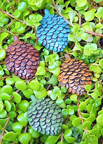 My Fairy Gardens Miniature Winter CHRISTMAS Pinecone Stepping Stone Paver - Mini Dollhouse Supply Expressions