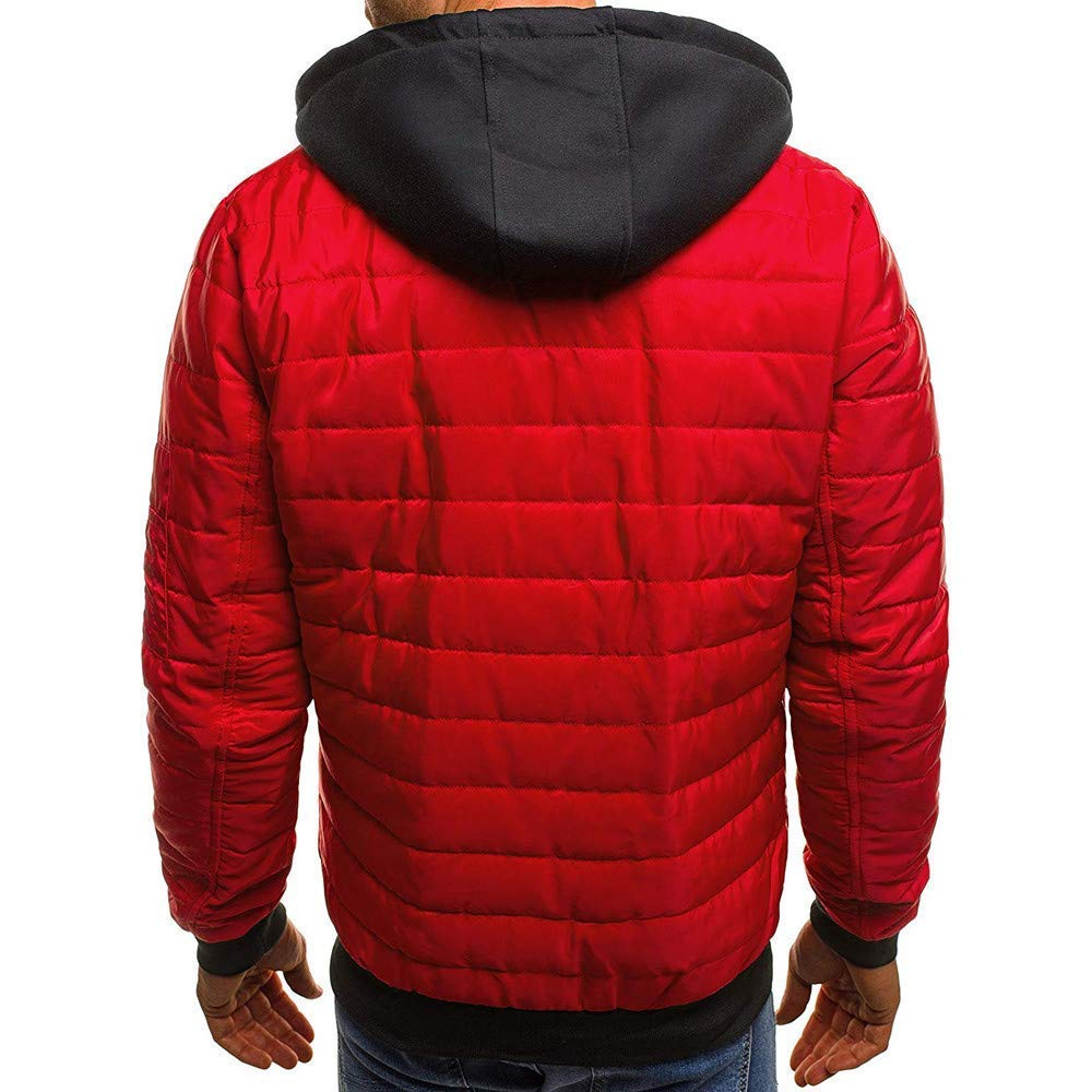 Mens Winter Zipper Wool Blouse Solid Color Thickening Coat Pullover Outwear Top