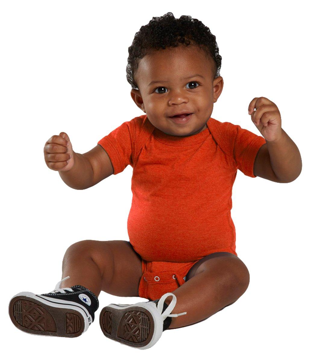 Rabbit Skins Infant Vintage Fine Jersey Soft Bodysuit, Vintage Orange, 6 Month