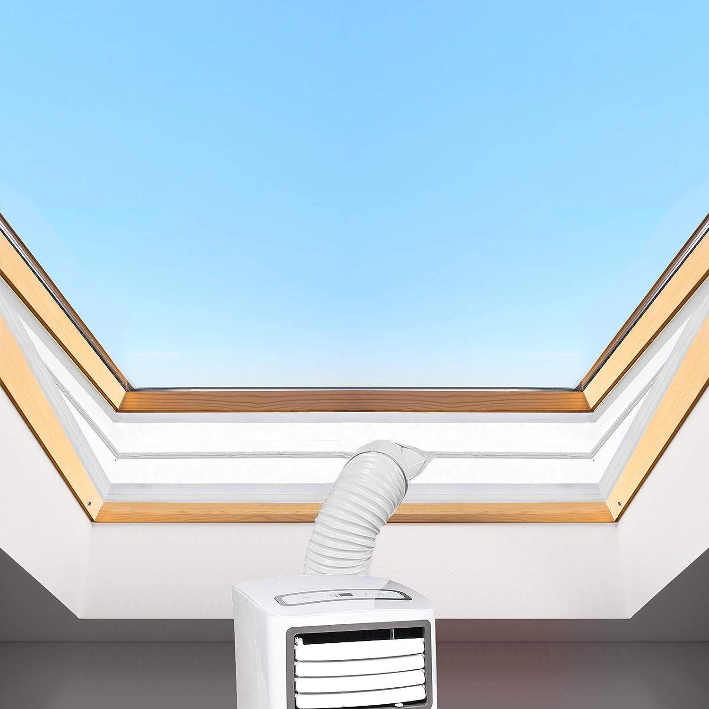 HOOMEE T/ürabdichtung f/ür mobile Klimager/äte 90x210cm Ablufttrockner Alternative zur Fensterabdichtung Klimaanlagen AirLock mit Rei/ßverschluss zum Anbringen an Balkont/üren W/äschetrockner