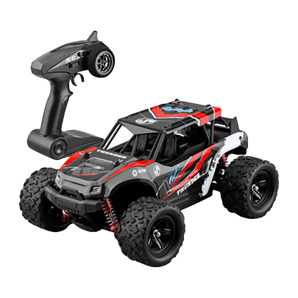 [4WD RC Cars] Dacawin Independent Suspension System 2.4G High Speed 50km/h High Friction Anti-Skid Radio Remote Control Off-Road Car Racing Car (Red, XX-1)