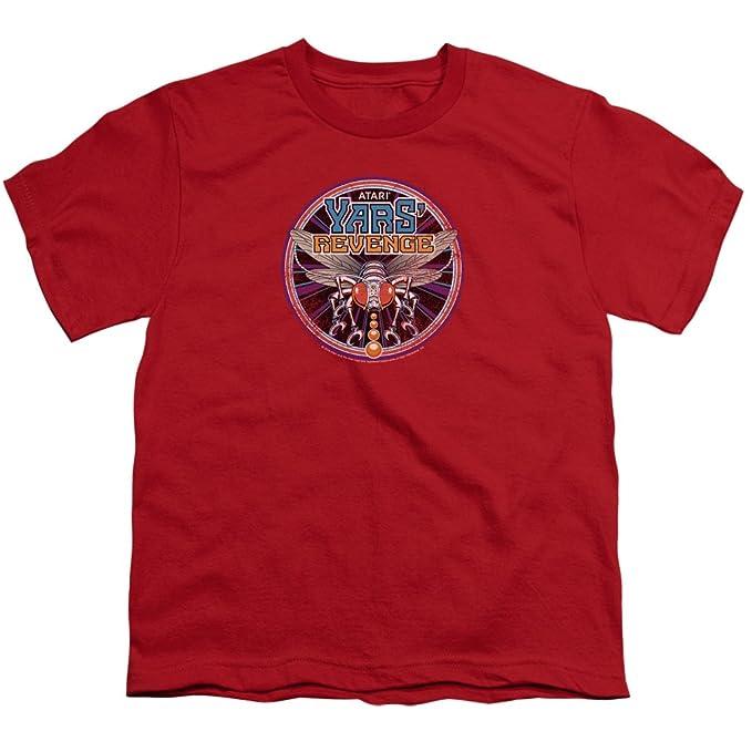 Trevco 2600 venganza juego de parches retro gran camiseta de la juventud de atari videojuegos yars