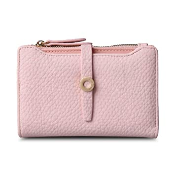 Amazon.com: Latest Leather Short Women Wallet Fashion Girls Change Clasp Purse Money Coin Card Holders Wallets Carteras Light pink: YHDIUHFFjh