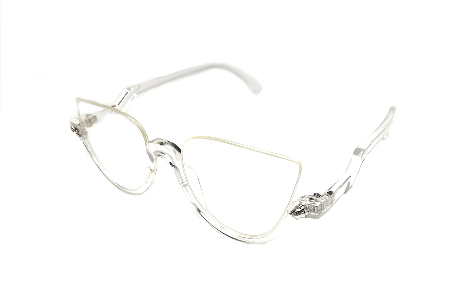 e8ec54c0076 Amazon.com  WebDeals - Cateye Chic Modern Open Top Frame Sunglasses or Clear  Glasses (Black Tortoise