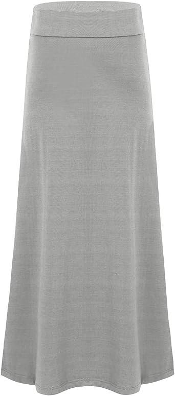MSemis Falda Larga Elegante Falda Casual Plisada para Niñas Color ...