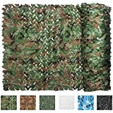 IUNIO Camouflage Netting, 16.4ft x 5ft / 5m x 1.5m Custom Woodland Camo Net Great for Sunshade Camping Shooting Hunting etc.